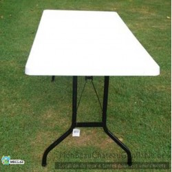 Table blanche - 8 personnes - occasion