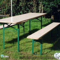 Tables de brasserie- Ensemble table et bancs - occasion