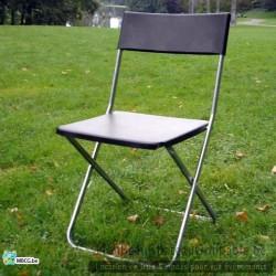 Chaise pliante noire ikea - location