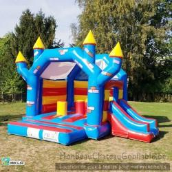 Le Kamelot - château gonflable - couvert - toboggan - occasion