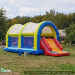 Le Parcours Médium - château gonflable toboggan - couvert - occasion