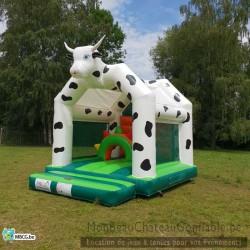 La Vache - château gonflable - couvert - occasion