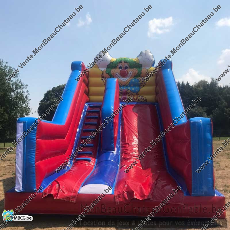 Le Tobo Clown - Toboggan - château gonflable - occasion