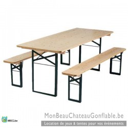 Tables de brasserie- Ensemble table et bancs - occasion