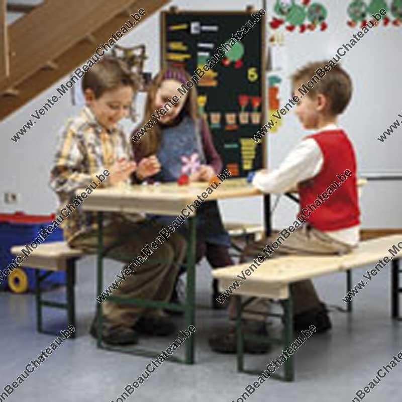 vente mini table brasserie pour enfants ensemble table et bancs. Black Bedroom Furniture Sets. Home Design Ideas