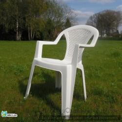 Location chaise de jardin blanche