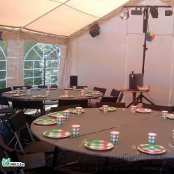 Table ronde pour réception