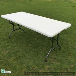 table pliante blanche pour r ception. Black Bedroom Furniture Sets. Home Design Ideas