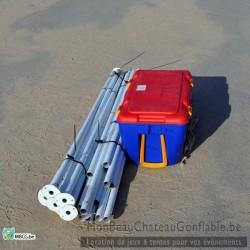Tonnelle en tube - 3m x 6m - livrée - montée