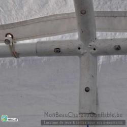 Tonnelle en tube - 4m x 8m - livrée - montée